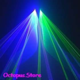 Green+Blue 450nm Laser Stage Disco Lighting DJ Party Show Light DMX512