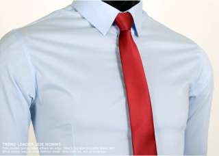 High Quality Slim Fit Light Blue Mens Dress Shirts US S