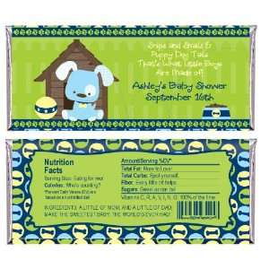 Puppy Dog   Personalized Candy Bar Wrapper Baby Shower Favors Baby