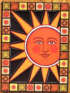 Gwyn Wahlmann Orange Sun w/ Face Laser Cut Wood Magnet