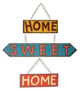 NEW HOME SWEET HOME RETRO / VINTAGE METAL SIGN GIFT