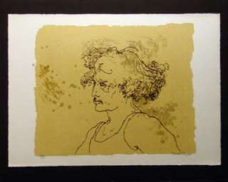 Robert Sargent, Untitled Lithograph Hand Signed & Numbered Portrait