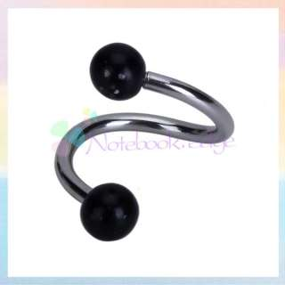 Stainless Steel Twist Belly Navel Ring Body Pierce Dancing Gift