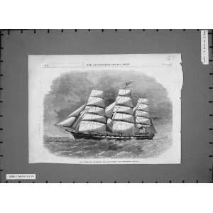 1862 Australian Clipper Ship Royal Family Sailing Print