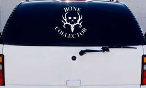 LARGE BONE COLLECTOR Truck Vinyl Decal 14 X 14 Hunting