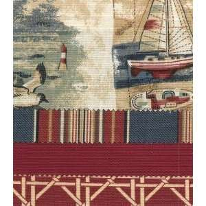 Southern Textiles Sail Away Tab Top Valance Home & Kitchen
