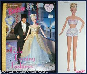 VINTAGE Golden MATTEL Ken BARBIE Gala Evening Fashions PAPER DOLL Book