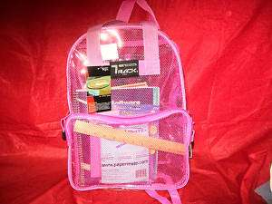 CLEAR/TRANSPARENT BACKPACK/ SCHOOL BOOKBAG NEW