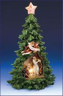 Lighted Holy Family Christmas Tree, Gift Boxed (Malhame 6217 2)