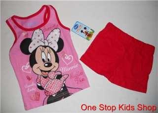 MOUSE Girls 2T 3T Set OUTFIT Shirt Tank Shorts CUTIE PIE Disney