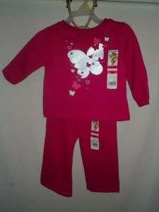 Garanimals Toddler Girls 3T sweatsuits Graphic tops & pant sets choose