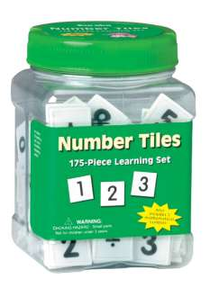 175 Pc Number Tiles Tub Set early learning math manipulatives autism