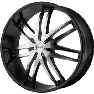 Helo HE868 24x9.5 Black Wheel / Rim 5x5 & 5x5.5 with a 15mm Offset and