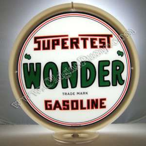 SUPERTEST WONDER GASOLINE GAS & OIL PUMP GLOBE FREE S&H