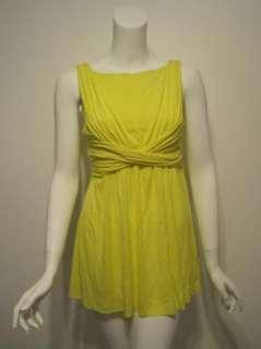 Bailey 44 womens flashback bright yellow sleeveless long top S $116