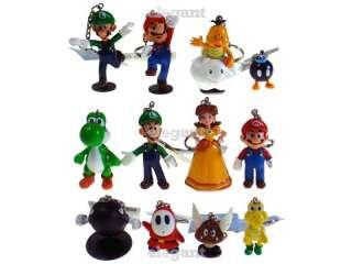 Nintendo Super Mario Brothers Luigi Yoshi DK 12 Figures Keychain