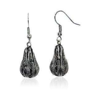 Ladies Silver Hollow Out Calabash Charm Hook Dangle Earrings Jewellery
