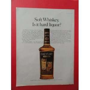 Calvert Extra Whiskey,1963 print advertisement (big bottle