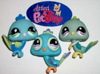 PEACOCK BIRD FAMILY~#463 869 985 Blue Green~Littlest Pet Shop Lot Z53