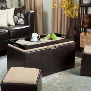 Table Storage Ottoman with Tray and Side Ottomans Home & Kitchen