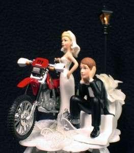 HONDA Dirt Bike Motorcycle LOT Wedding Cake topper SET