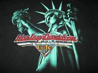 Vtg Harley Davidson New York Statue of Liberty T shirt XL