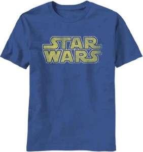 Star Wars Classic Movie Logo Vintage Look Licensed Tee Shirt Sizes S
