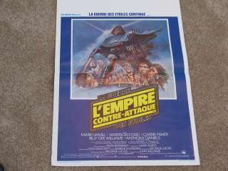 Star Wars EMPIRE STRIKES BACK French Lobby Poster 1980