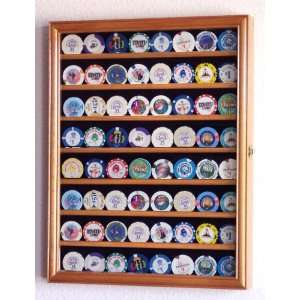 Casino Chips Coins Display Case Cabinet Holder Wall Rack w