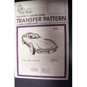 Hot Iron Transfer Pattern #973 Corvette (For Punch