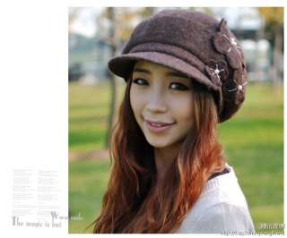 New Vintage Chic Women Ladies Brim Wool Fedora Winter Hat 5 Colors