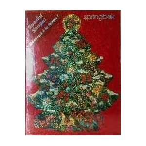 Springbok 500 Piece Christmas Tree Shaped Puzzle   Sparkling Tree