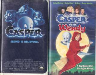 Casper & Casper Meets Wendy   2 VHS Family Tapes |