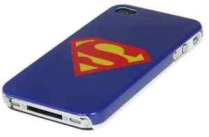 Superman Logo Pattern Protective Case Cover for iPhone 4