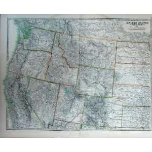 Atlas United States North America Map Geography C1901