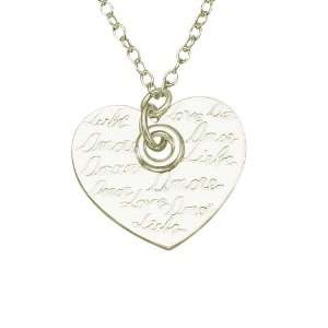 Sterling Silver Cuff Spanish Love Circle Link Heart Necklace. FREE