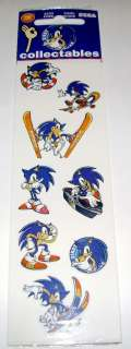 NEW PACKAGE OF SONIC THE HEDGEHOG SEGA STICKERS C.1999   RARE SET