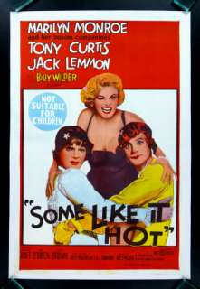 SOME LIKE IT HOT * MOVIE POSTER MARILYN MONROE 1959