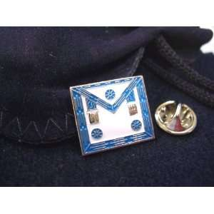 Masonic Lodge Master Mason Apron HAT TIE OR LAPEL PIN