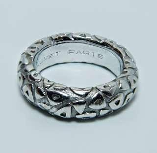 Designer CHAUMET Paris 18K White Gold Eternity Wedding Ring Band 8gr
