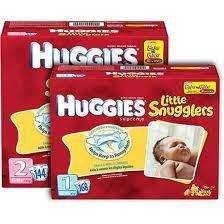 Huggies Little Snugglers Diapers Size 1 & 2 CHEAP |