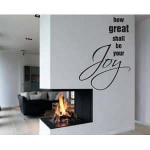 shall be your joy Scriptural Christian Vinyl Wall Decal Mural Quotes