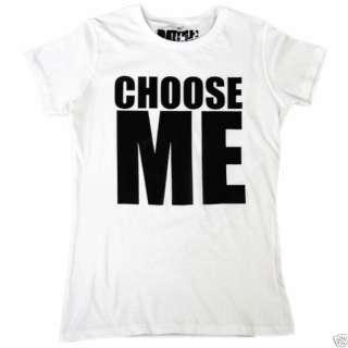 BATCH1 CHOOSE ME WOMENS SLOGAN FASHION PRINT T SHIRT L