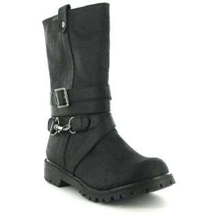Genuine Rocket Dog Chomp Ladies Boots Black Womens Shoes Sizes UK 3