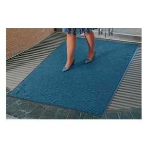 Deep Cleaning Ribbed 3 Foot Wide Cut Length Mat Blue