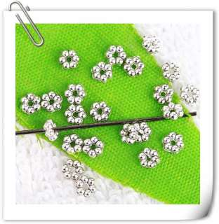 2400pc Tibetan Silver Daisy Spacer Beads 3mm A0763