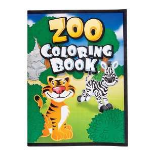 12 Page Zoo Animal Coloring Books (package of 12 books