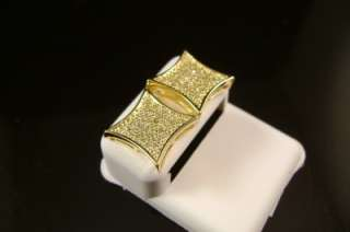 pave set High quality Diamond Simulate in Gold Finish Studs Earrings
