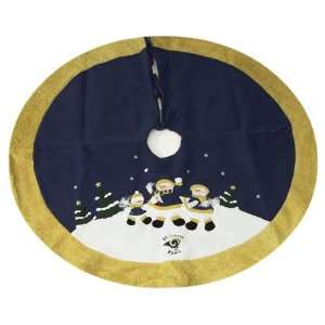 St. Louis Rams NFL Snowman Holiday Tree Skirt (48)