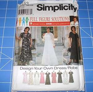 SIMPLICITY PATTERN 7163   FULL FIGURE DRESS   SIZE FF 18W   24W